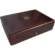 19thC Rosewood Pocket Watch Presentation Box