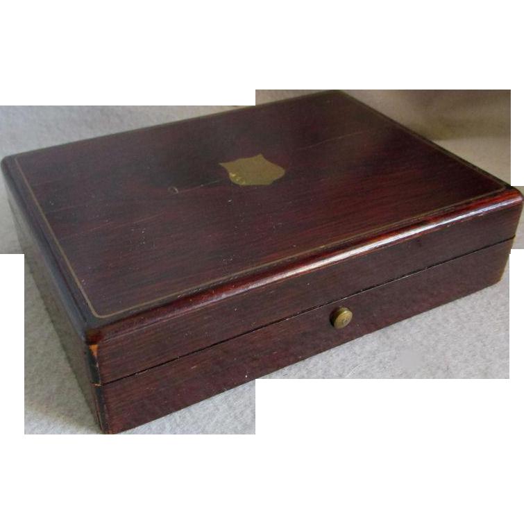 19thC Rosewood Pocket Watch Presentation Box