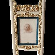 c1880s Victorian Gilt, Velvet Picture Frame