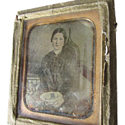 Occupational Daguerreotype Lady Seamstress, Lace Maker