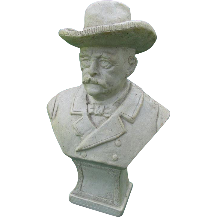 Antique Folk Art Stone Carving of an Important Gentleman
