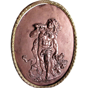 Antique Plaque of Mythology Heracles & Cerberus