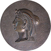 Antique Egyptian Revival Sphinx Medallion