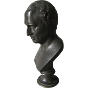 Antique Bronze Bust of Julius Caesar, Grand Tour