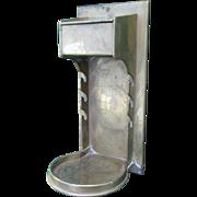 Antique Candlestick Holder, Match Safe & Pipe Rack