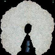 Fine 19thC Needle Lace Capelet, Shawl