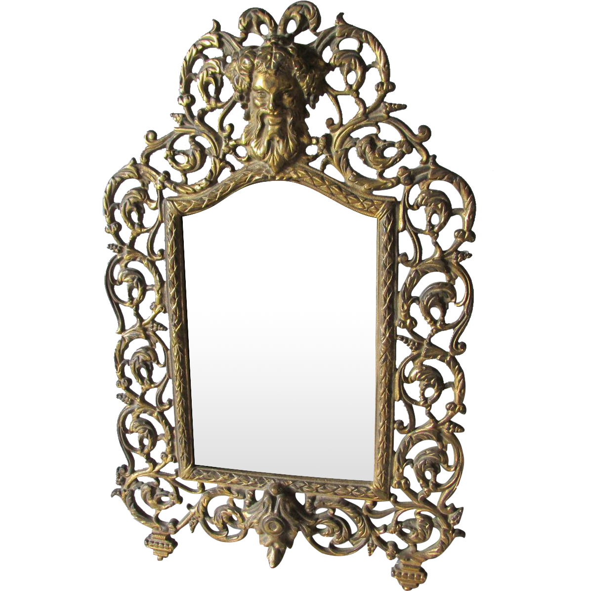 Antique bradley hubbard mirror picture frame with bacchus for Bradley mirror