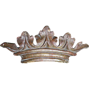 Vintage Italian Wood Crown Architectural Element