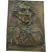 Antique Duke of Wellington Brass Plaque