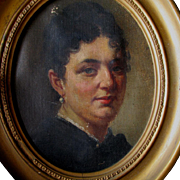 c1860-70s Oil Painting, Portrait of a Lady