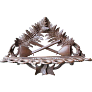 German Black Forest Hand Carved Fern Leaf Pipe Rack