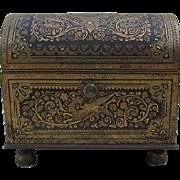 c1929 Miniature Barcelona Damascene Jewelry Box
