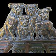Antique Cast Iron Bulldog Hooks