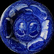 c1908 Taft Sherman US Political Campaign Plate, Flow Blue
