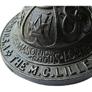 M C Lilley & Co Goods Advertising Paperweight, Masonic Military