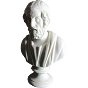Antique Parian Porcelain Bust of Homer, J & T R