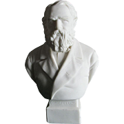 Antique Parian Porcelain Longfellow Bust R & L