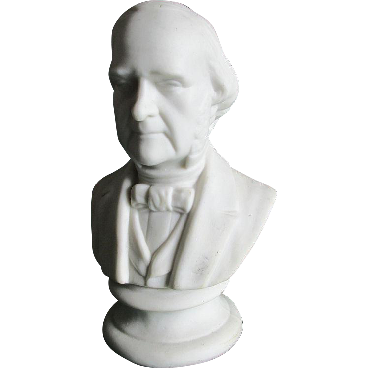 Antique Parian Porcelain Bust of an Important Gentleman