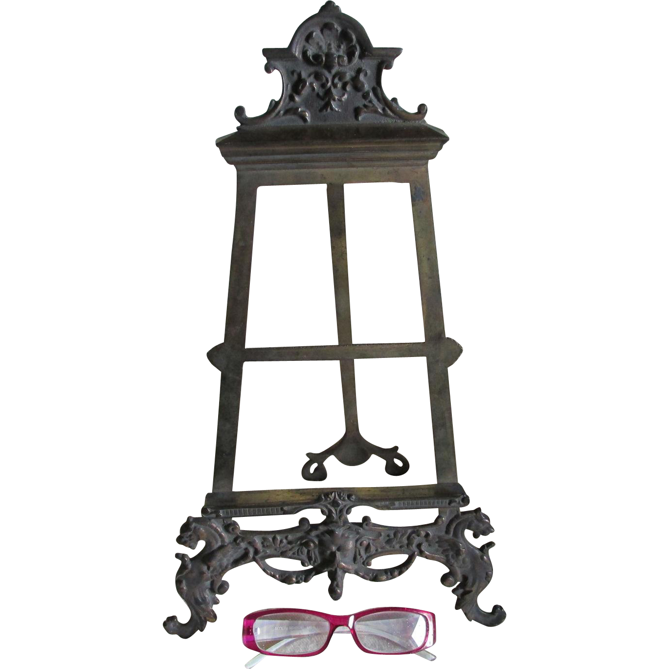 Antique Victorian, Gothic Easel Stand with Gargoyle, North Wind