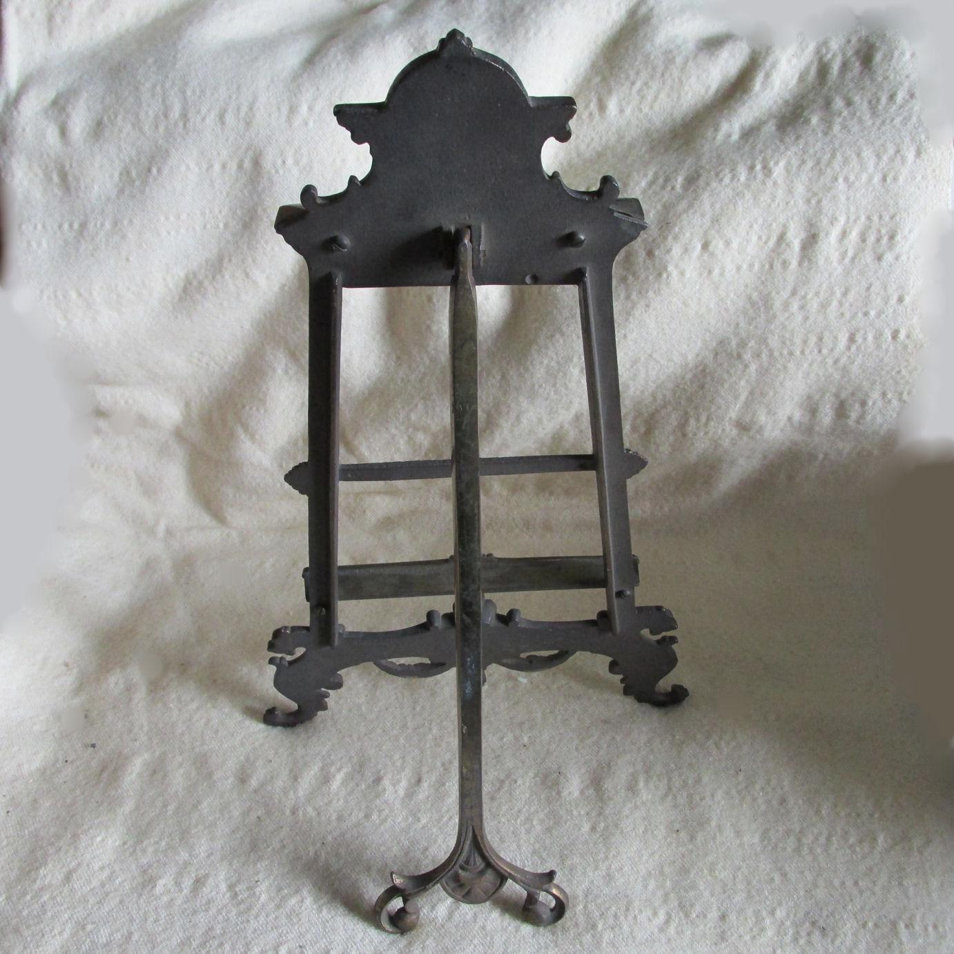 Antique Victorian Gothic Easel Stand With Gargoyle North