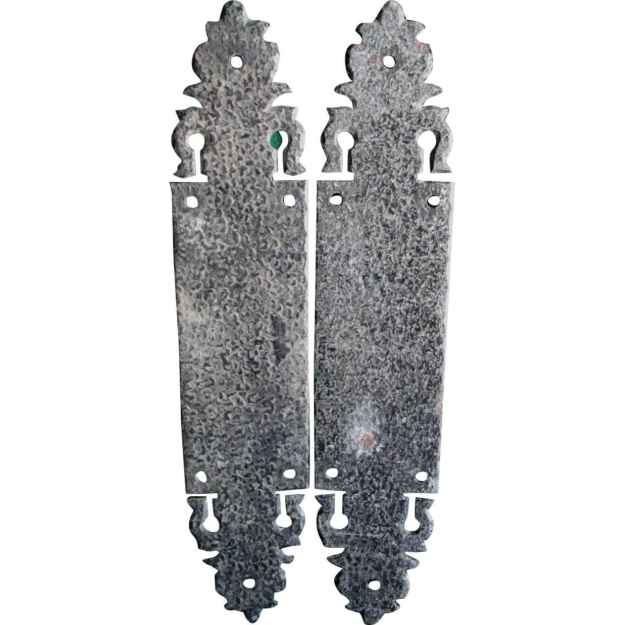 Antique Arts & Crafts Wrought Iron Door Push Plates