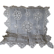 Fine Vintage Sol Lace Tablecloth, Tenerife and Nhanduti Lace