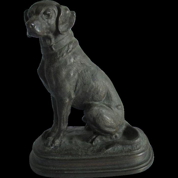 c1890s Sculpture of a Labrador Retriever Dog