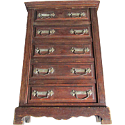 c1900 Miniature Doll or Child's Highboy, Chest of Drawers
