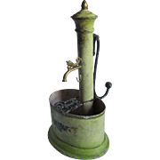 Lovely Antique European Toleware Fountain, Water Well