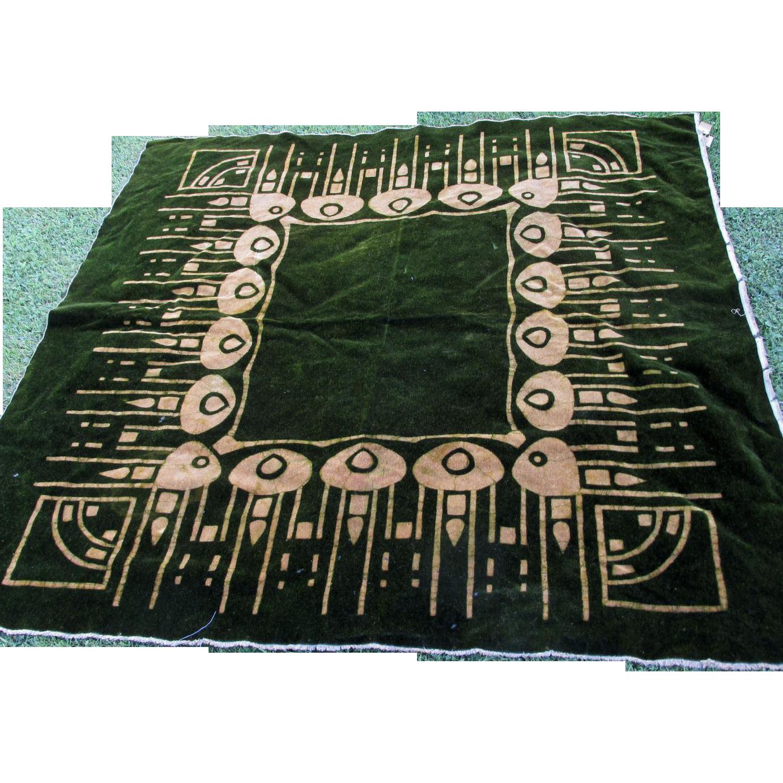 c1890-1900 Antique Art Nouveau Mohair Tablecloth
