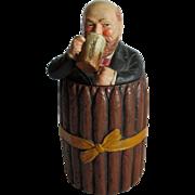 Antique Figural Drinking Man Terra Cotta Cigar Humidor, Johann Maresch