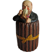 Antique Figural Drinking Man Terra Cotta Cigar Humidor, Johann Maresch