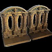 c1920s Moorish Alhambra Column Bookends, Bradley & Hubbard