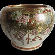 Fine Hand Painted Satsuma Vase, Signed, Shimazu Clan