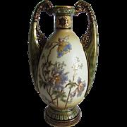 Lovely Amphora Art Nouveau Vase, Ernst Wahlis, Turn