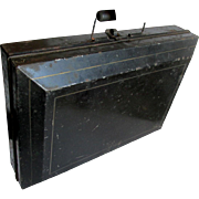 19thC Japanned Tin Paint Box with Original Powder Paints