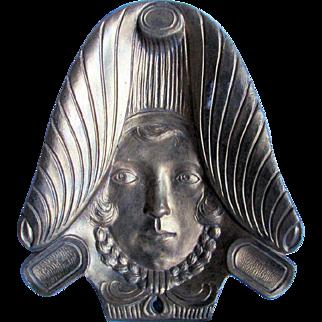 Antique Art Nouveau Figural Lady Cigar Tray