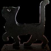 Rare c1926 Black Cat Cast Iron Boot Scraper by Household Patent Co.