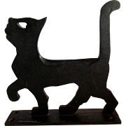Rare c1926 Black Cat Cast Iron Boot Scraper by Household Patent Co.