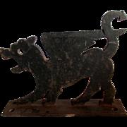 Rare c1926 Gargoyle, Dragon Cast Iron Boot Scraper by Household Patent Co.