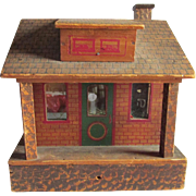 Antique Wood Doll House, Christmas Decoration