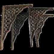 Set of 4 19thC Gothic Cast Iron Architectural Brackets