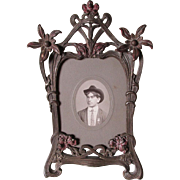 Pretty c1890-1900 Art Nouveau Picture, Mirror Frame