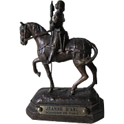 Antique Miniature Joan of Arc Paris Souvenir Sculpture