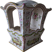 Antique French Faience, Majolica Sedan Chair, Savy, Marseille