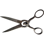 Antique c1870 Hand Forged Steel Scissors, Sewing or Desk Accessory
