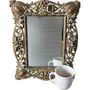 Antique Art Nouveau Vanity Mirror, Picture Frame
