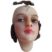 Circa 1920s Flapper Doll Wax Head, Ladies Face