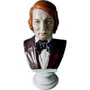 Antique Porcelain Bust of Schumann, Chelsea Anchor Mark