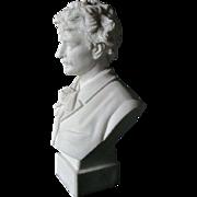 Parian Porcelain Bust of Ignacy Jan Paderewski, Robinson & Leadbeater